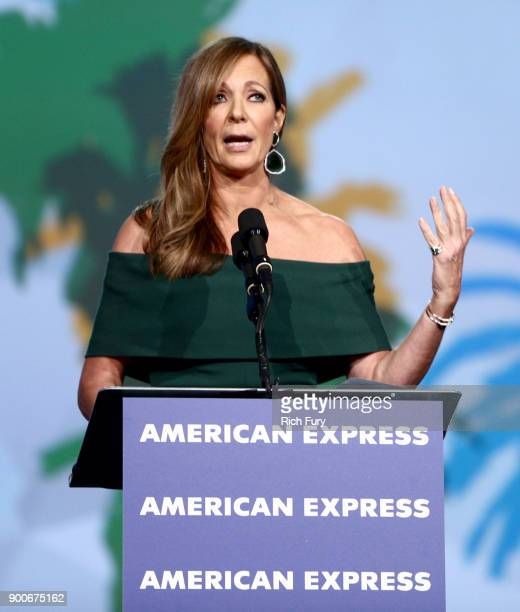 Allison Janney accepts Spotlight Award onstage at the 29th Annual Palm Springs International Film Festival Awards Gala at Palm Springs Convention...