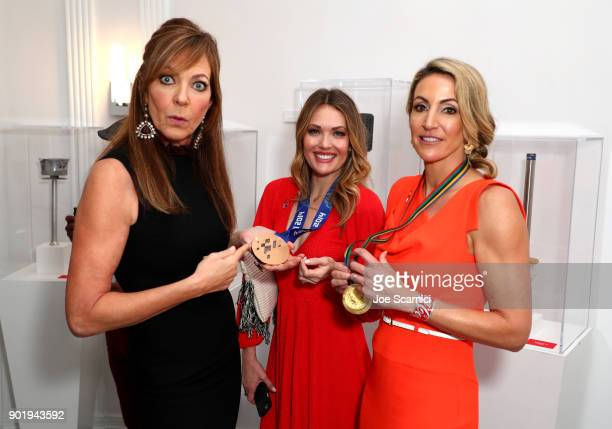 Allison Janney Amy Purdy and Summer Sanders attend GOLD MEETS GOLDEN The 5th Anniversary Refreshed by CocaCola Globes Weekend Gets Sporty with Nicole...