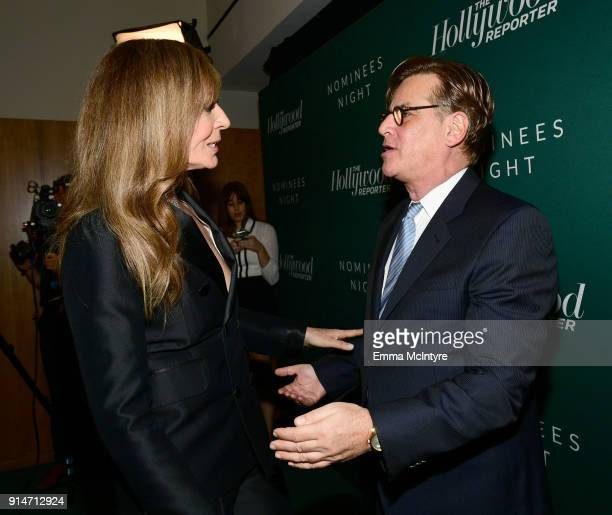 Allison Janney and Aaron Sorkin attend The Hollywood Reporter 6th Annual Nominees Night at CUT on February 5 2018 in Beverly Hills California