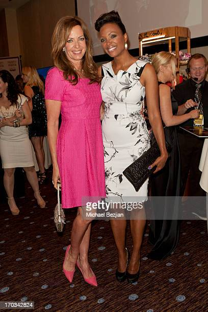 Allison Janney and Aisha Tyler attend Critics' Choice Television Awards VIP Lounge on June 10 2013 in Los Angeles California