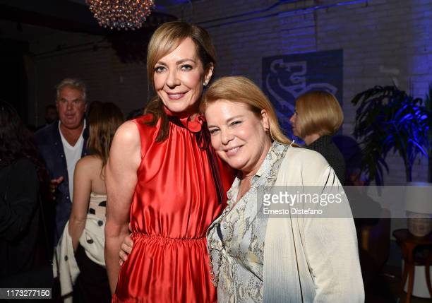 Allison Janney and Catherine Curtin attend the RBC Hosted Bad Education Cocktail Party At RBC House Toronto Film Festival 2019 at RBC House on...