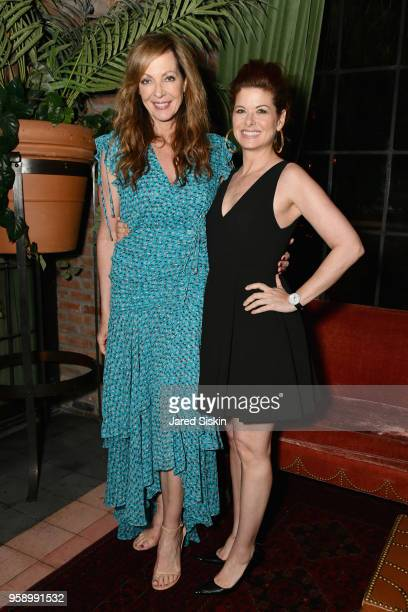 Allison Janney and Debra Messing attend the Gersh Upfronts Party 2018 at The Bowery Hotel on May 15 2018 in New York City