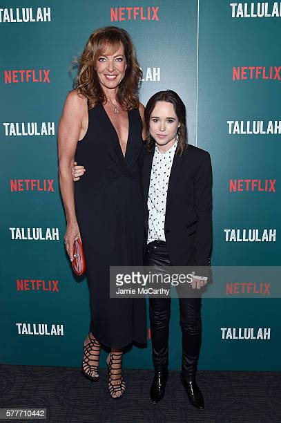 Allison Janney and Ellen Page attend a special screening of 'Tallulah' hosted by Netflix at Landmark Sunshine Cinema on July 19 2016 in New York City