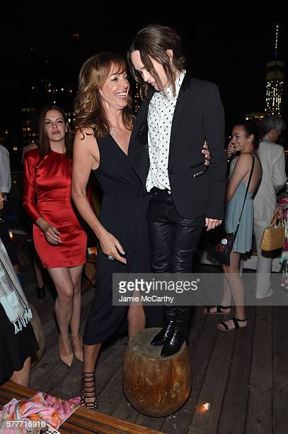 Allison Janney and Ellen Page attend the after party for a special screening of 'Tallulah' hosted by Netflix at The Jimmy at the James Hotel on July...