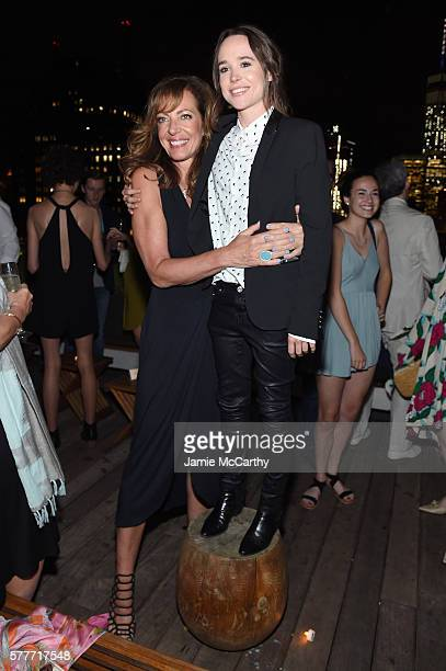 Allison Janney and Ellen Page attend the after party for a special screening of Tallulah hosted by Netflix at The Jimmy at the James Hotel on July 19...