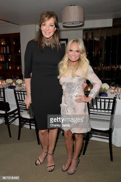 Allison Janney and Kristin Chenoweth attends the Opening of Beverly Hills Boutique with a private VIP dinner hosted by Giovanni Morelli Stuart...