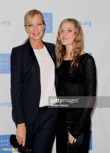 Allison Janney and Petra Janney attend the annual Voices for Justice Dinner hosted by Human Rights Watch at The Beverly Hilton Hotel on November 13...