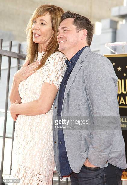 Allison Janney and Tate Taylor attend the ceremony honoring Allison Janney with a Star on The Hollywod Walk of Fame held on October 17 2016 in...