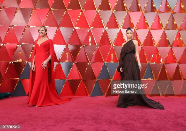 Allison Janney and Zendaya attends the 90th Annual Academy Awards at Hollywood Highland Center on March 4 2018 in Hollywood California