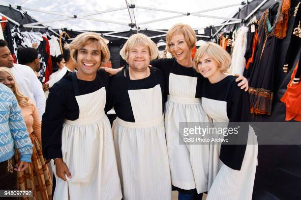 Allison Janney Anna Faris Kunal Nayyar and Iain Armitage perform in the Late Late Show Primetime Special Crosswalk The Musical The Sound of Music...