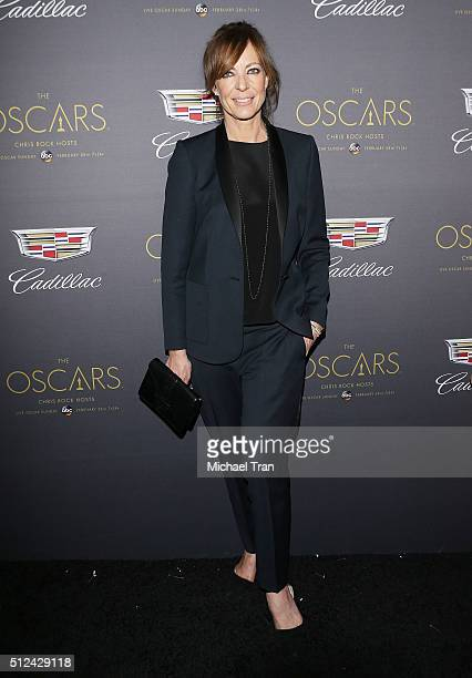 Allison Janney arrives at the Cadillac celebrates The 88th Annual Academy Awards preparty held at Chateau Marmont on February 25 2016 in Los Angeles...