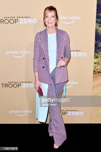 Allison Janney arrives at the Premiere of Amazon Studios' 'Troop Zero' at Pacific Theatres at The Grove on January 13 2020 in Los Angeles California