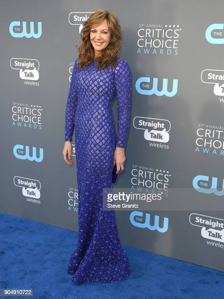 Allison Janney arrives at the The 23rd Annual Critics' Choice Awards at Barker Hangar on January 11 2018 in Santa Monica California