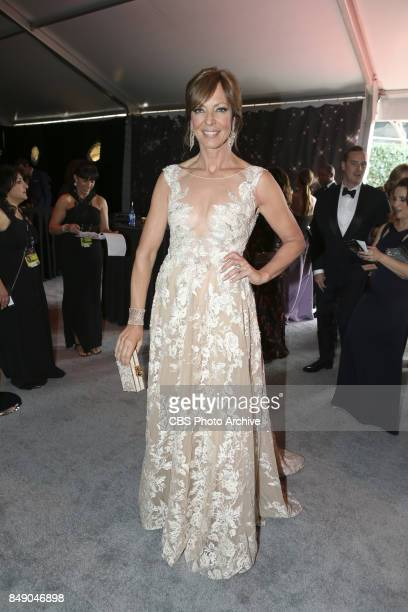 Allison Janney arrives on the red carpet at the 69TH PRIMETIME EMMY AWARDS LIVE from the Microsoft Theater in Los Angeles Sunday Sept 17 on the CBS...
