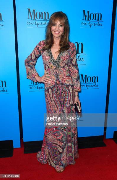 Allison Janney attends CBS And Warner Bros Television's 'Mom' Celebrates 100 Episodes at TAO Hollywood on January 27 2018 in Los Angeles California