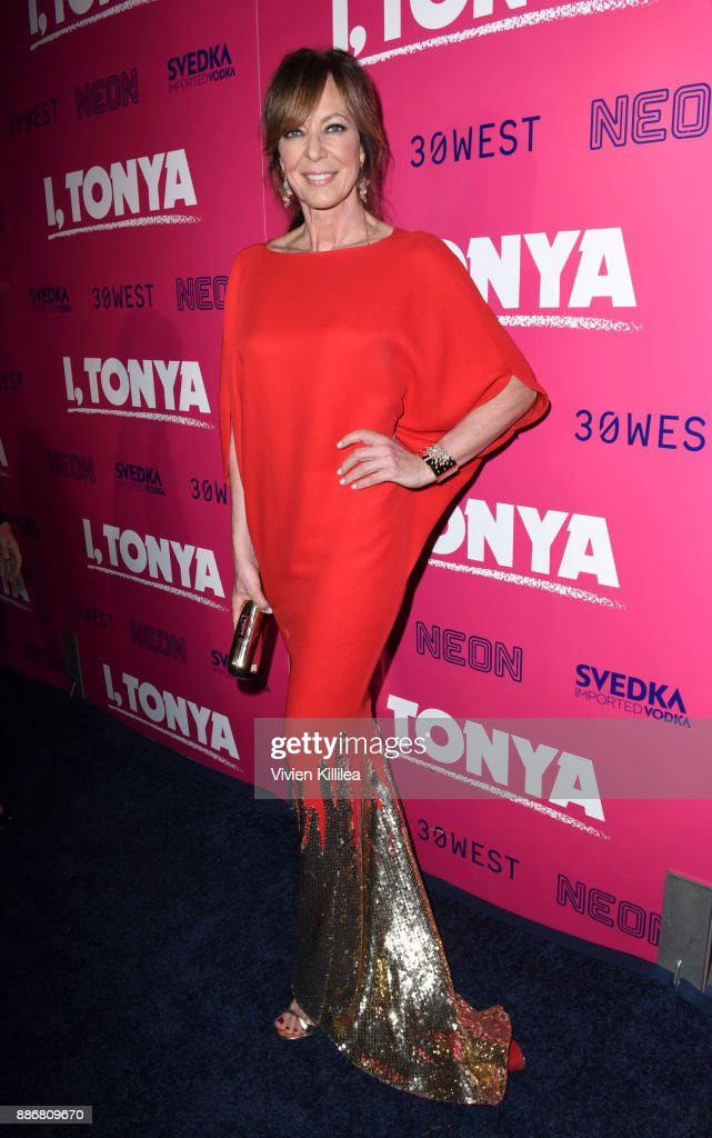 Allison Janney attends NEON and 30WEST Present the Los Angeles Premiere of 'I, Tonya' Supported By Svedka on December 5, 2017 in Los Angeles, California.