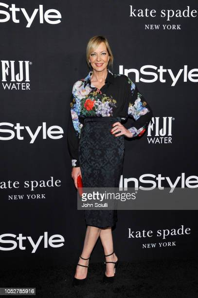 Allison Janney attends the 2018 InStyle Awards with Fiji Water on October 22 2018 in Los Angeles California