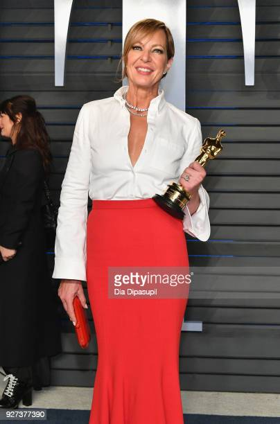 Allison Janney attends the 2018 Vanity Fair Oscar Party hosted by Radhika Jones at Wallis Annenberg Center for the Performing Arts on March 4 2018 in...