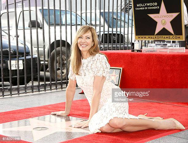 Allison Janney attends the ceremony honoring her with a Star on The Hollywod Walk of Fame held on October 17 2016 in Hollywood California