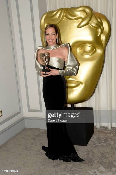 Allison Janney attends the EE British Academy Film Awards gala dinner held at Grosvenor House, on February 18, 2018 in London, England.