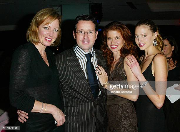 Allison Janney FrancoisHenry Bennahmias Debra Messing and Estella Warren