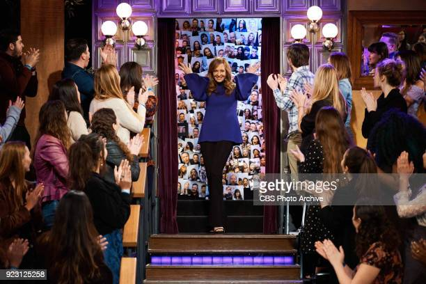 Allison Janney greets the audience during The Late Late Show with James Corden Wednesday February 21 2018 On The CBS Television Network