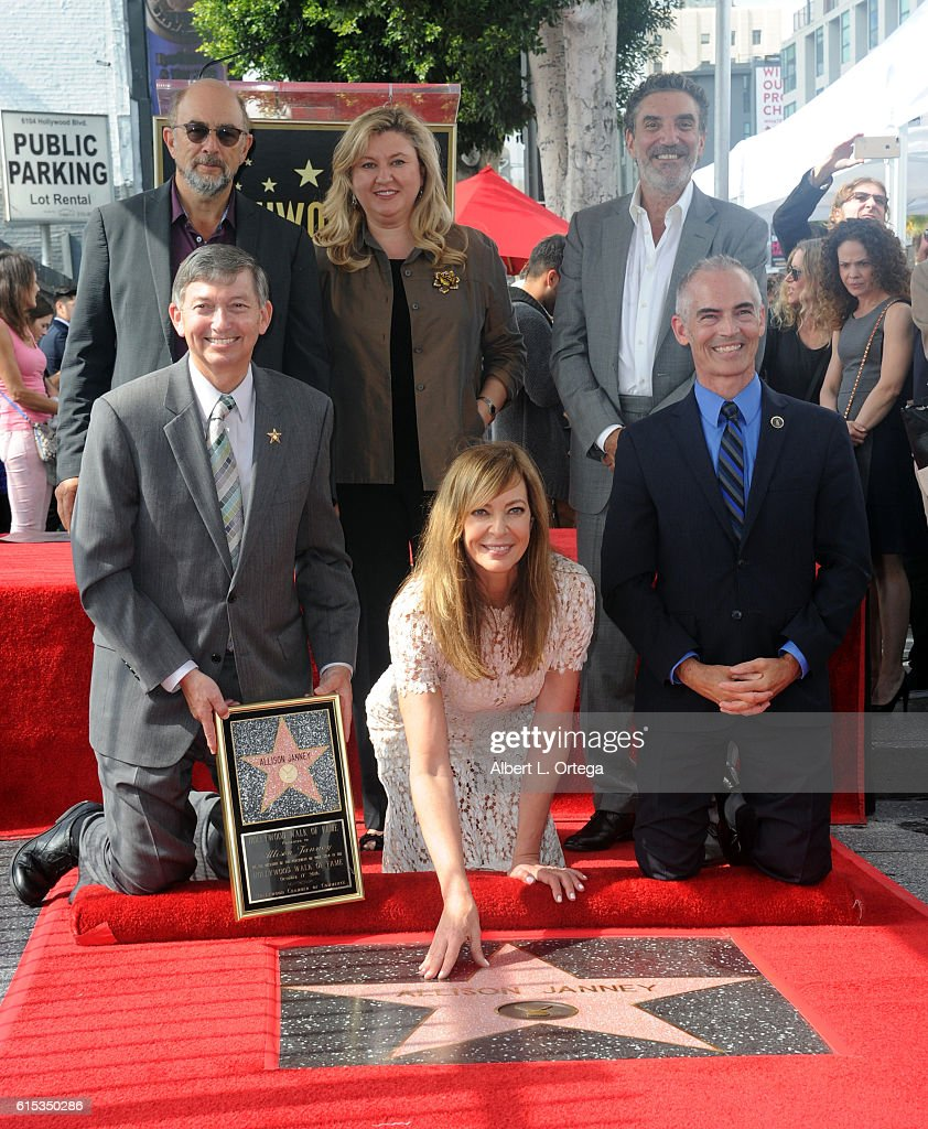 Allison Janney Honored With Star On The Hollywood Walk Of Fame on October 17, 2016 in Hollywood, California.