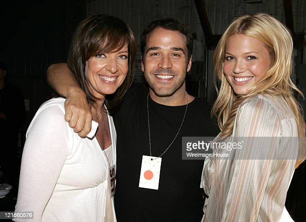 Allison Janney Jeremy Piven and Mandy Moore mingle backstage during 'Shelter from the Storm A Concert for the Gulf Coast' the live commercialfree...