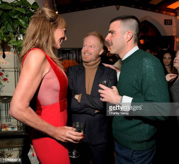 Allison Janney Jesse Tyler Ferguson and Zachary Quinto attend the Cadillac Oscar Week Celebration at Chateau Marmont on February 21 2019 in Los...