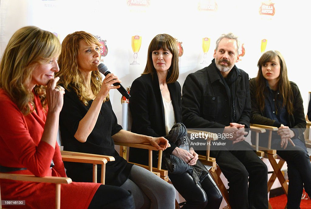 Allison Janney, Lynn Shelton, Rosemarie DeWitt, Josh Pais and Ellen Page attend the Stella Artois press junket for Sundance Film 'Touchy Feely' at Village at the Lift on January 19, 2013 in Park City, Utah.