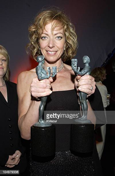 Allison Janney poses for photographers at The Screen Actors Guild PostAwards Gala sponsored by the Entertainment Industry Foundation and People...