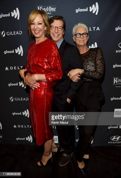 Allison Janney Sean Hayes and Jamie Lee Curtis attend the 30th Annual GLAAD Media Awards Los Angeles at The Beverly Hilton Hotel on March 28 2019 in...