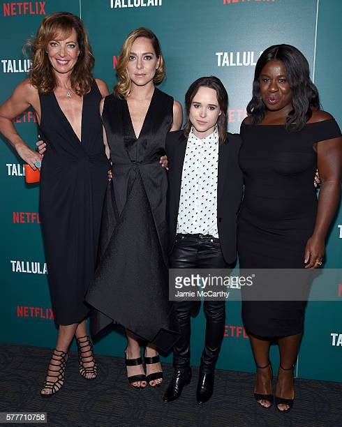 Allison Janney Sian Heder Ellen Page and Uzo Aduba attends a special screening of 'Tallulah' hosted by Netflix at Landmark Sunshine Cinema on July 19...