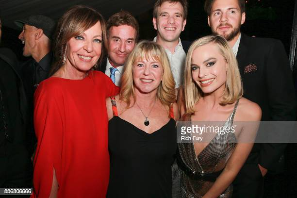 Allison Janney, Steven Rogers, Tonya Harding, Bryan Unkeless, Margot Robbie and Ricky Russert attend the after party for the premiere of Neon and 30...