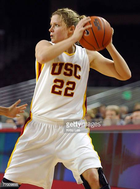 Allison Jaskowiak of USC during 6857 loss to Arizona State in Pacific10 Conference women's basketball game at the Galen Center in Los Angeles Calif...