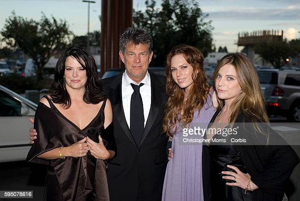 Allison Jones David Foster Erin Foster and Jordan Foster on the red carpet before a charity fund raising gala for the David Foster Foundation in...