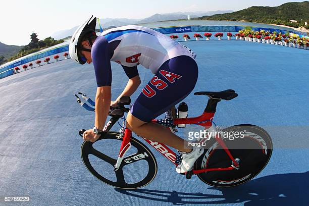 Allison Jones of USA wins the Silver in the Road Cycling Women's Time Trial at the Triathlon Venue during day six of the 2008 Paralympic Games on...