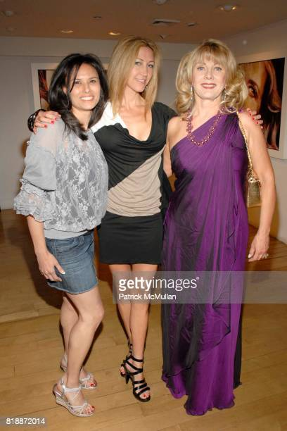 Allison Kagan Lisa Scharf and Paola Rosenshine attend Opera Gallery Opening Voigt Monet and Vukelic at Opera Gallery on April 15 2010 in New York City