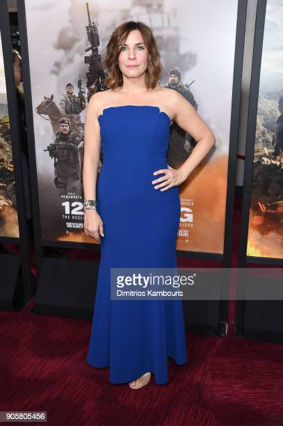 Allison King attends the world premiere of '12 Strong' at Jazz at Lincoln Center on January 16 2018 in New York City