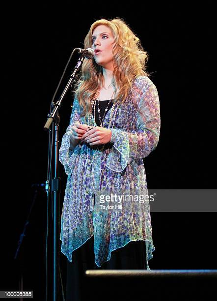 Allison Krauss performs during the Music Saves Mountains benefit concert at the Ryman Auditorium on May 19 2010 in Nashville Tennessee