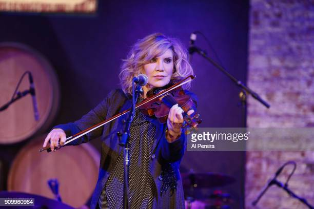 Allison Krauss performs in the Southern Blood Celebrating Gregg Allman event at City Winery on January 24 2018 in New York City