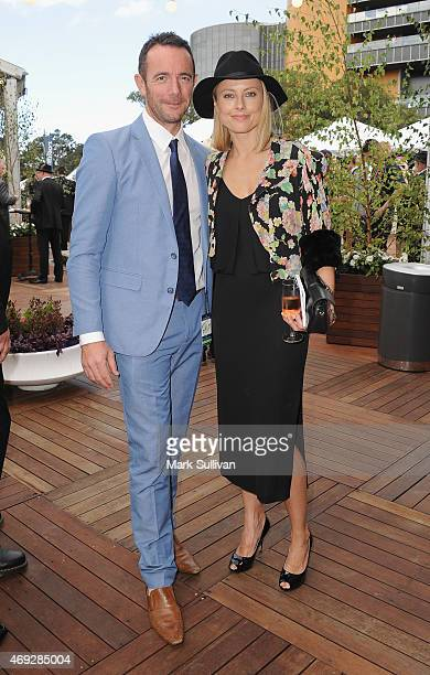 Allison Langdon and guest during The Championships- day 2 at Royal Randwick Racecourse on April 11, 2015 in Sydney, Australia.