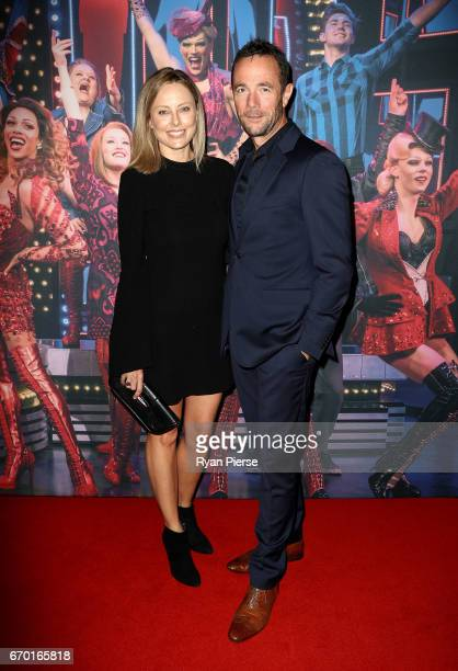 Allison Langdon and Michael Willesee Jr arrive for the opening night of Cyndi Lauper's Kinky Boots at Capitol Theatre on April 19, 2017 in Sydney,...