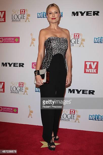 Allison Langdon arrives at the 2014 Logie Awards at Crown Palladium on April 27 2014 in Melbourne Australia
