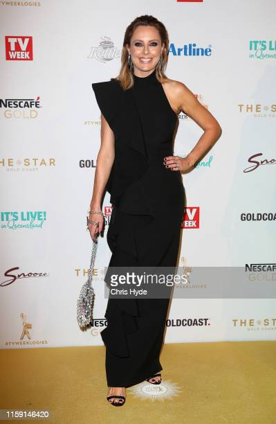 Allison Langdon arrives at the 61st Annual TV WEEK Logie Awards at The Star Gold Coast on June 30 2019 on the Gold Coast Australia