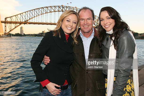 Allison Langdon,Monte Dwyer and Giaan Rooney during Today Celebrates 25 Years In Sydney at Sydney Opera House in Sydney, NSW, Australia.