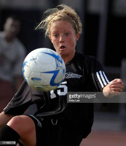 Allison Lawrence of Humboldt State during 00 double overtime time against Cal State Dominguez Hills in CCAA women's soccer match at the Home Depot...