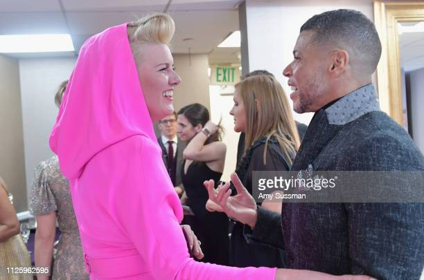 Allison Leach and Wilson Cruz attend The 21st CDGA at The Beverly Hilton Hotel on February 19 2019 in Beverly Hills California