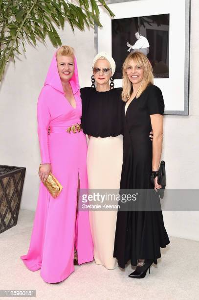 Allison Leach, Lou Eyrich, and Paula Bradley attend The 21st CDGA at The Beverly Hilton Hotel on February 19, 2019 in Beverly Hills, California.