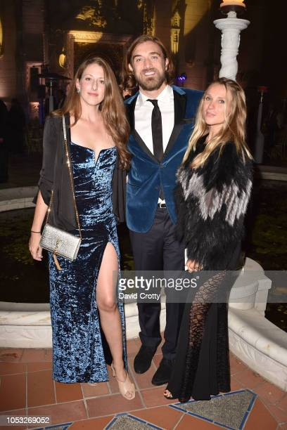 Allison Luvera Ben Berube and Nikole Powers attend Hearst Castle Preservation Foundation Hollywood Royalty Dinner at Hearst Castle on September 28...